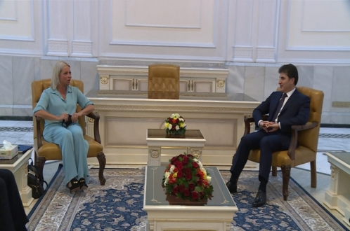 رئيس إقليم كوردستان يجتمع بممثلة الأمين العام للأمم المتحدة