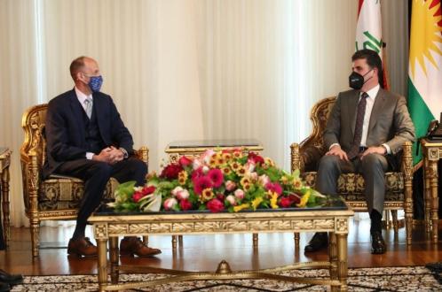 رئيس إقليم كوردستان يؤكد على أهمية الحوار الاستراتيجي الأمريكي- العراقي