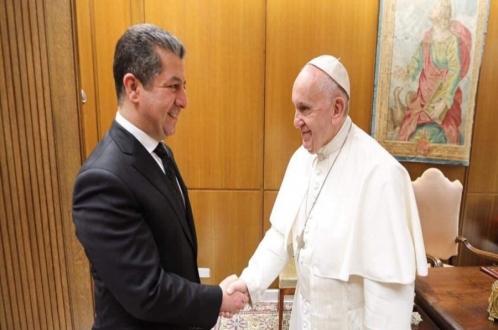 مسرور بارزاني يلتقي بابا الفاتيكان