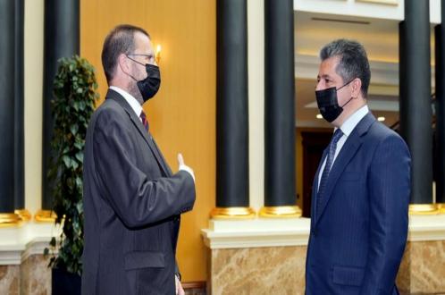 رئيس حكومة إقليم كوردستان يستقبل القنصل العام الهنغاري الجديد