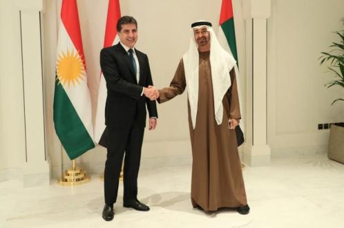 رئيس إقليم كوردستان وولي عهد أبو ظبي يجتمعان
