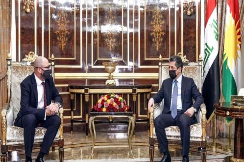 رئيس حكومة إقليم كوردستان يستقبل القنصل العام البريطاني الجديد