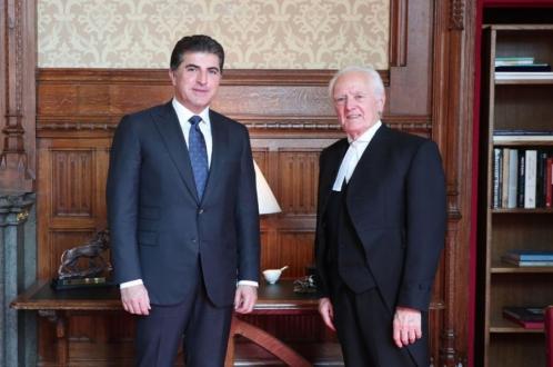 رئيس إقليم كوردستان يجتمع مع رئيس مجلس اللوردات البريطاني