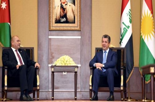رئيس حكومة إقليم كوردستان يستقبل رئيس مجلس النواب الأردني