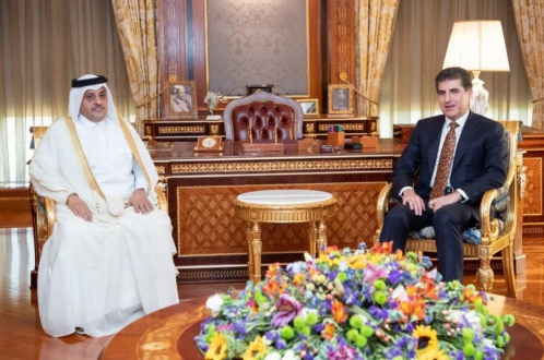 فخامة رئيس إقليم كوردستان يستقبل السفير القطري