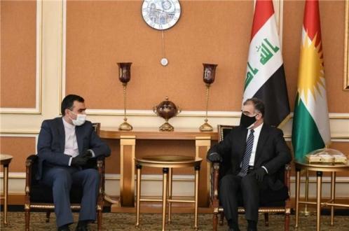 مسؤول العلاقات الخارجية يجتمع مع القنصل العام الجديد للجمهورية الإسلامية الإيرانية في السليمانية
