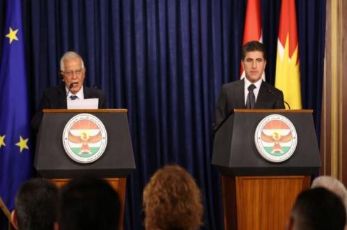رئيس إقليم كوردستان يجتمع مع وفد رفيع المستوى للاتحاد الأوروبي