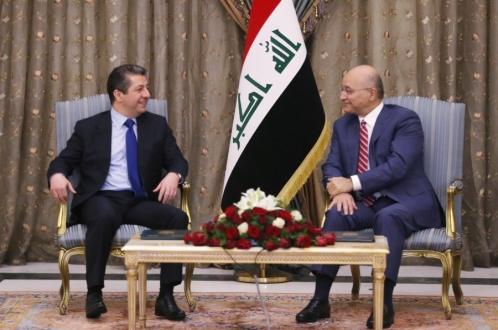 رئيس الجمهورية يستقبل رئيس حكومة اقليم كردستان