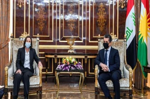 رئيس حكومة إقليم كوردستان يستقبل السفيرة الأسترالية لدى العراق