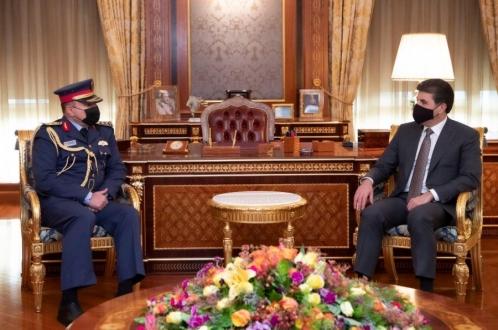 رئيس إقليم كوردستان يستقبل قائد القوة الجوية العراقية