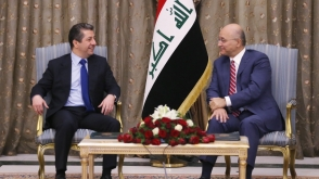 THE PRESIDENT WELCOMES THE KRG PRIME MINISTER