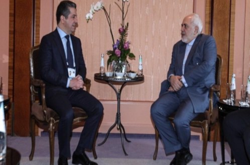 Prime Minister Masrour Barzani meets the Foreign Minister of Iran in Munich