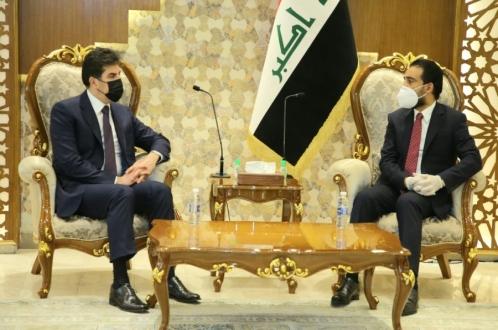 President Nechirvan Barzani and Iraq's Parliament Speaker discuss latest developments