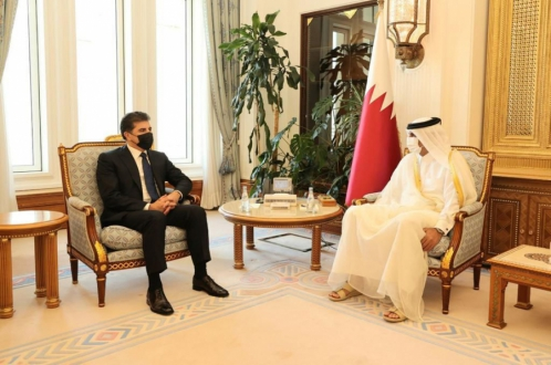 Kurdistan Region President meets with Prime Minister of Qatar