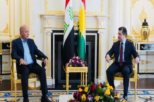 PM Masrour Barzani meets with Iraqi President