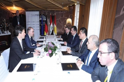Prime Minister Masrour Barzani meets Germany's Minister of State
