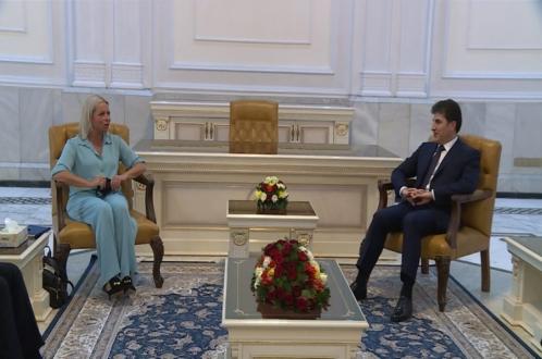 President Nechirvan Barzani meets with UNSG Special Representative Plasschaert