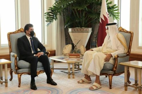 Kurdistan Region President meets with Emir of Qatar