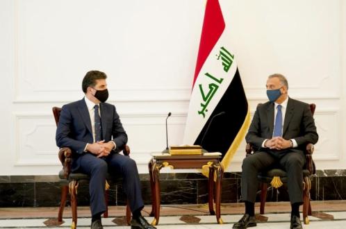President Nechirvan Barzani and Iraq's Prime Minister Kadhimi meet in Baghdad
