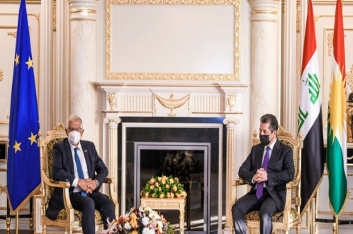 PM Masrour Barzani meets with the EU's High Representative for Foreign Affairs and Security Policy