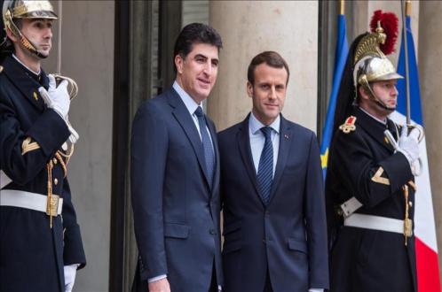 President Nechirvan Barzani and President Emmanuel Macron of France to meet in Paris