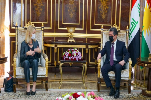 PM Masrour Barzani met the head of the EU Election Observation Mission