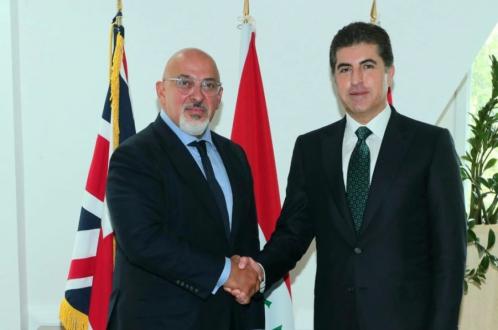 Kurdistan Region President meets with UK Secretary of Education