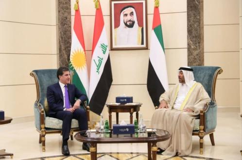 President Nechirvan Barzani arrives in Abu Dhabi