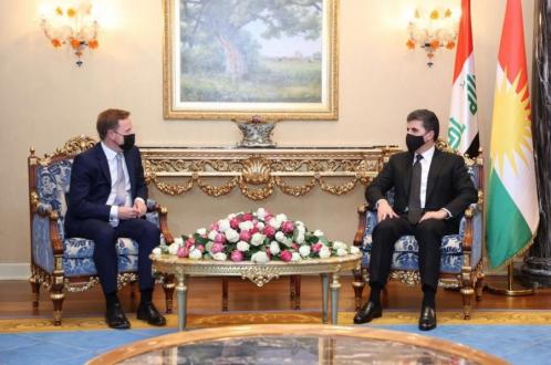 Kurdistan Region President receives UK Ambassador to Iraq