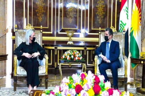 President Nechirvan Barzani meets with UN Special Representative Plasschaert