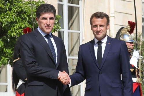 Nechirvan Barzani holds talks with French President Macron in Paris