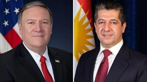 PM Masrour Barzani receives call from US Secretary of State