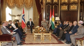 President Barzani Welcomes Norway's Foreign & Defense Ministers