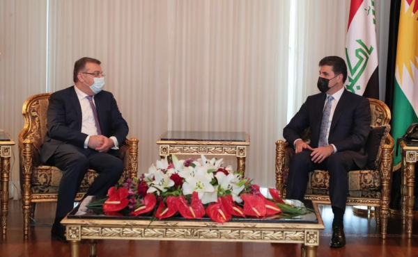 President Nechirvan Barzani received Armenia's Deputy Minister of Foreign Affairs