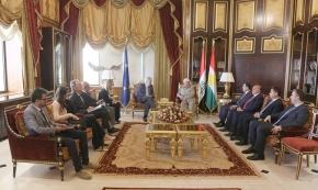 President Barzani Meets with European Commissioner for Humanitarian Aid‏