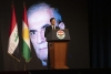 Kurdistan Region President delivers a speech at the reception of Dr. Najmadin Karim's body