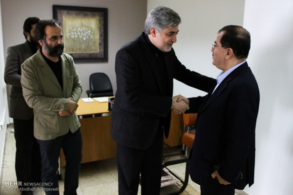 Nazem Dabbagh Visiting the Chief Executive Officer of Mehr Agency: Mehr News Agency is the Messenger of more Friendship and Intimacy for Kurdish Areas
