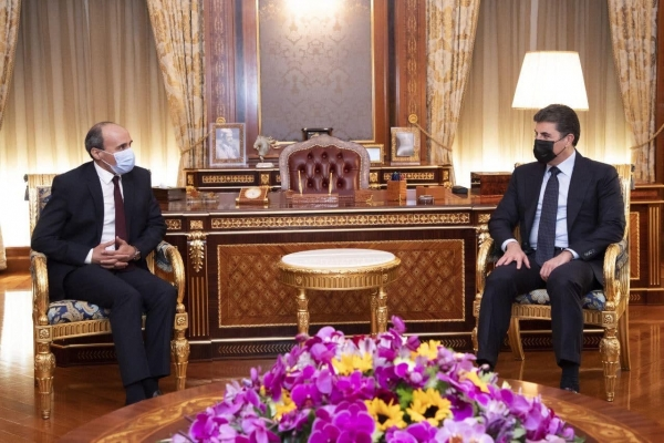 Kurdistan Region President receives Egypt's Consul General