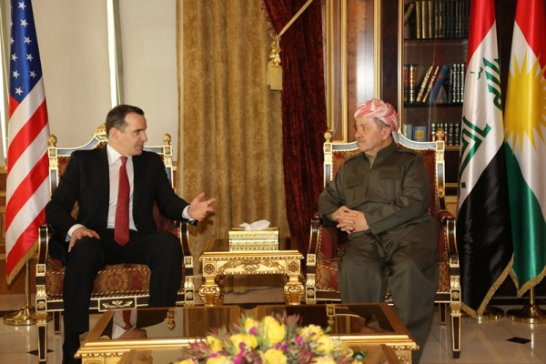 President Barzani Meets President Obama's Envoy for Coalition to Counter ISIS