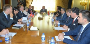 Minister Falah Mustafa receives Norwegian Ministers of Foreign Affairs and Defense