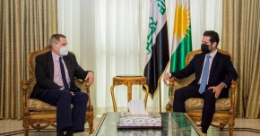 Deputy Prime Minister Qubad Talabani meets with American Ambassador to Iraq