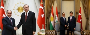 President Barzani Meets with Turkey's President and Prime Minister‏