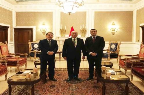 «ناظم دباغ» با دکتر «فوئاد حسین» وزیر امور خارجه عراق در تهران دیدار کرد