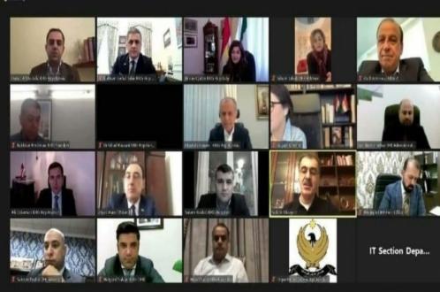 سلام عارف روشدی در جلسه صفین دزهیی با نمایندگان حکومت اقلیم کردستان در خارج شرکت کرد