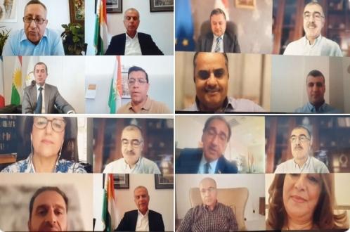 «سلام عارف روشدی» در ویدئو کنفرانس رئیس اداره روابط خارجی حکومت اقلیم کردستان شرکت کرد